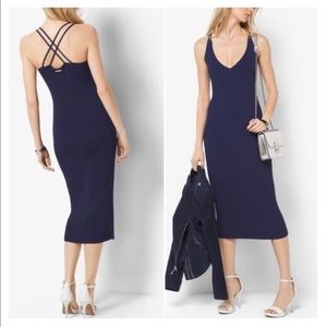 NWT Michael Kors ribbed sleeveless dress